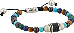 Steve Madden Stainless Steel Tiger's Eye Bead Bracelet