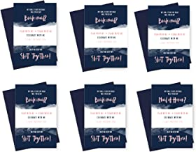 Will You Be My Bridesmaid Cards (6 Pack) I Can't Without You Maid of Honor (Navy, Blush, and Gold)