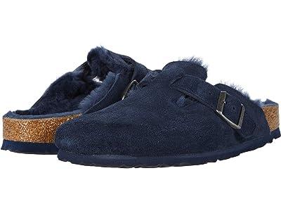 Birkenstock Boston Shearling (Night/Night Suede/Shearling) Clog Shoes