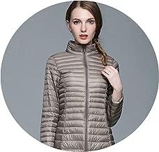World-Palm 7XL Long Winter Down Jacket Women Ultra Light Lightweight Portable Female Windbreaker
