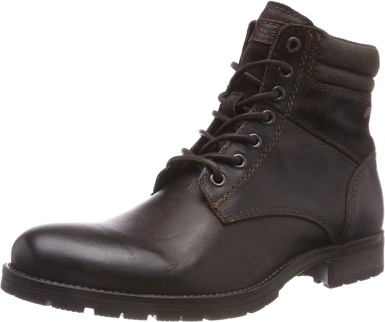 Jack & Jones Men's Jfwzachary Combo Brown Stone Combat Boots