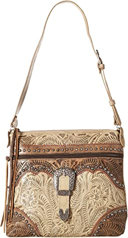 American West - Saddle Ridge Zip Top Shoulder Bag