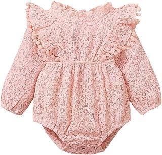 T TALENTBABY Neugeborene Prinzessin Lace Romper Ruffle Jumpsuit Einteilige Spielanzüge Fancy Party Bodysuit Outfits Kleidungsset
