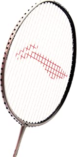 Li Ning Badminton Racket Super Force Player Edition Carbon Graphite Racquet Professional High Grade Shaft with Padded Badminton Cover (Assorted Color)