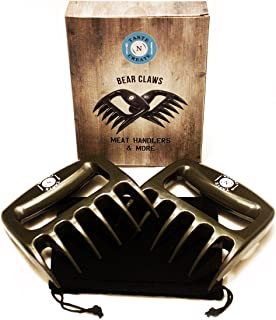 BEAR CLAWS for pulled pork,chicken,beef and more-Superior Grey BBQ forks-Meat shredders**Free Storage bag included and E R...