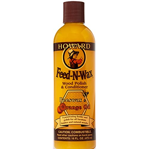 Superbe Howard Products FW0016 Feed N Wax Wood Polish And Conditioner, Beeswax U0026 U0026