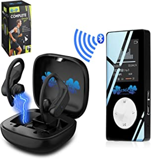 MCNICK & COMPANY Wireless Earbuds and Bluetooth Mp3 Player 8GB 2000 Songs - 8 Hour Ear Buds Play Life photo