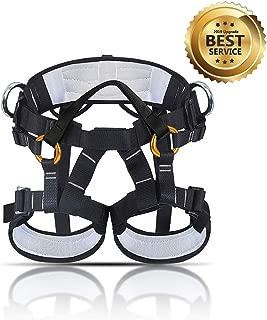 KINGUARD Arnés de Escalada Alpinismo Cuerda Equipo Escalada Ajustable Cinturón Seguro de Cadera de Cintura para Mujer y Hombre Escalada de Roca Alpinismo Rescate