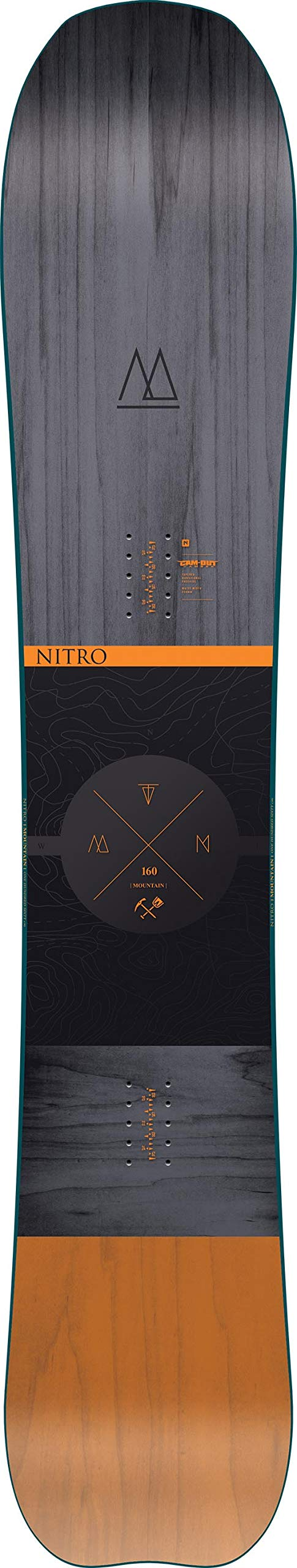 Nitro Herren 19 All-Mountain Freeride Board in Mid-Wide, Mehrfarbig, 163