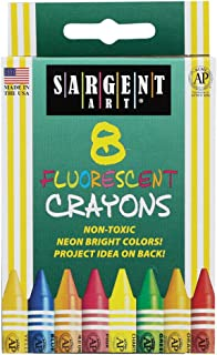 Sargent Art 35-0535 8-Crayons, Peggable and Fluorescent