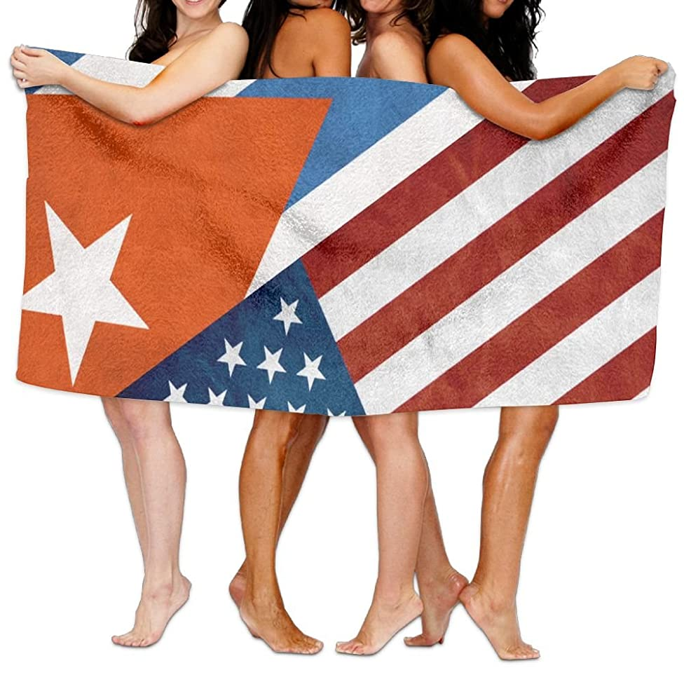 NUNOFOG Unisex USA Cuba Flag Bath Towel Adult Soft Microfiber Printed Beach Towels Travel Towel 31x51 Inches