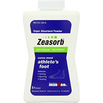 Zeasorb Super Absorbant Antifungal Powder, Foot Care, 2.5-Ounce Bottles (Pack of 2) [Package may vary]
