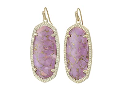 Kendra Scott Elle Earring (Gold/Bronze/Veined Lilac) Earring