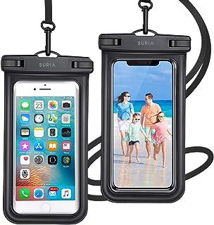 【2021最新版 & 2枚セット& Face ID認証/指紋認証対応】 防水ケース スマホ用 IPX8認定 完全保護 防水携帯ケース 完全防水 タッチ可 顔認証 気密性抜群 iPhone11/iPhoneXR/X/Android 6.5インチ以...