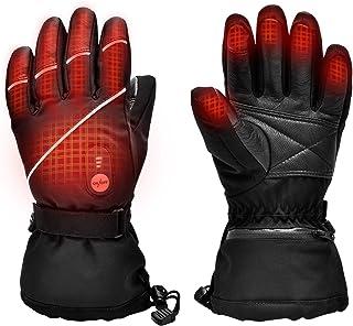 Upgraded Heated Gloves for Men Women,Electric Ski Motorcycle Snow Mitten Glove Arthritis
