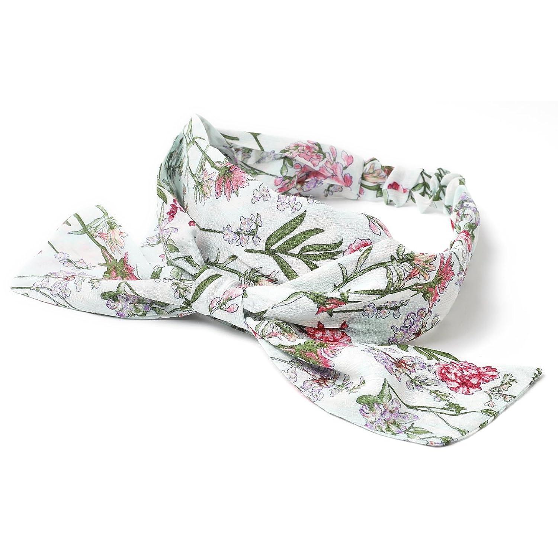 (エムエイチエー) M.H.A.style 花柄リボンヘアバンド レディース 春夏 ヘアターバン カチューム 21834