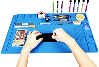 Kaisi Heat Insulation Silicone Repair Mat with Scale Ruler and Screw Position for Soldering Iron, Phone and Computer Repair Size: 21.6 x 13.8 Inches