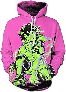 HZIJUE Demon Slayer Anime Hoodie 3D Printed Pullover Sweatshirt G-001-Small