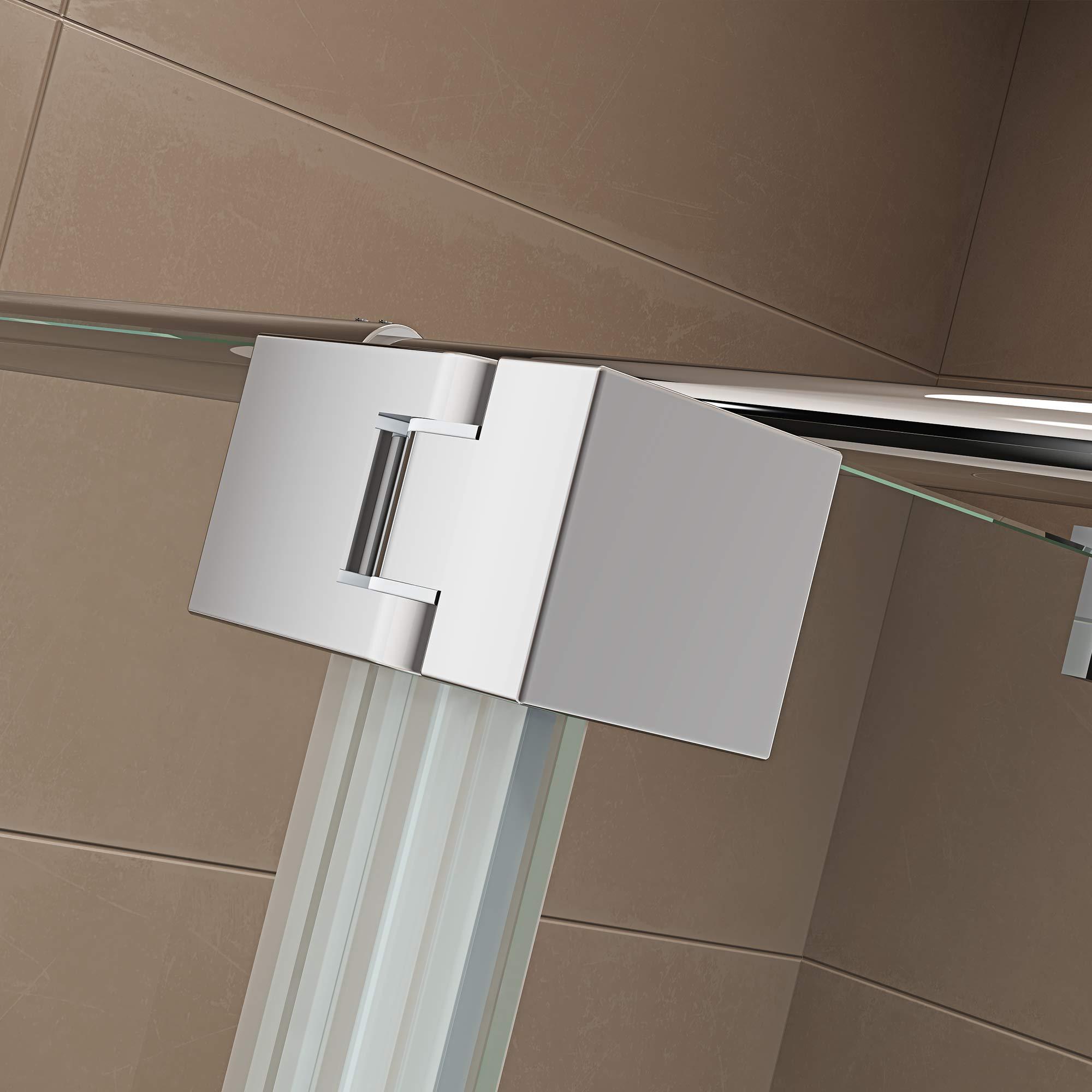 Mampara de ducha Walk-in con protección antisalpicaduras NT109 8 mm ESG de cristal: Amazon.es: Bricolaje y herramientas