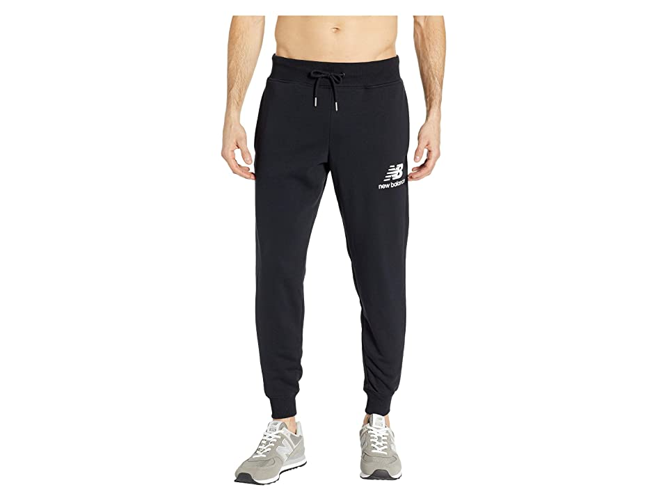 New Balance Essentials Stacked Logo Sweatpants (Black) Men