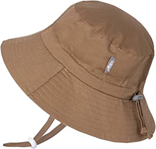 Boys Breathable Cotton Bucket Sun-Hat, Adjustable with Strap, Baby, Toddler, Kids