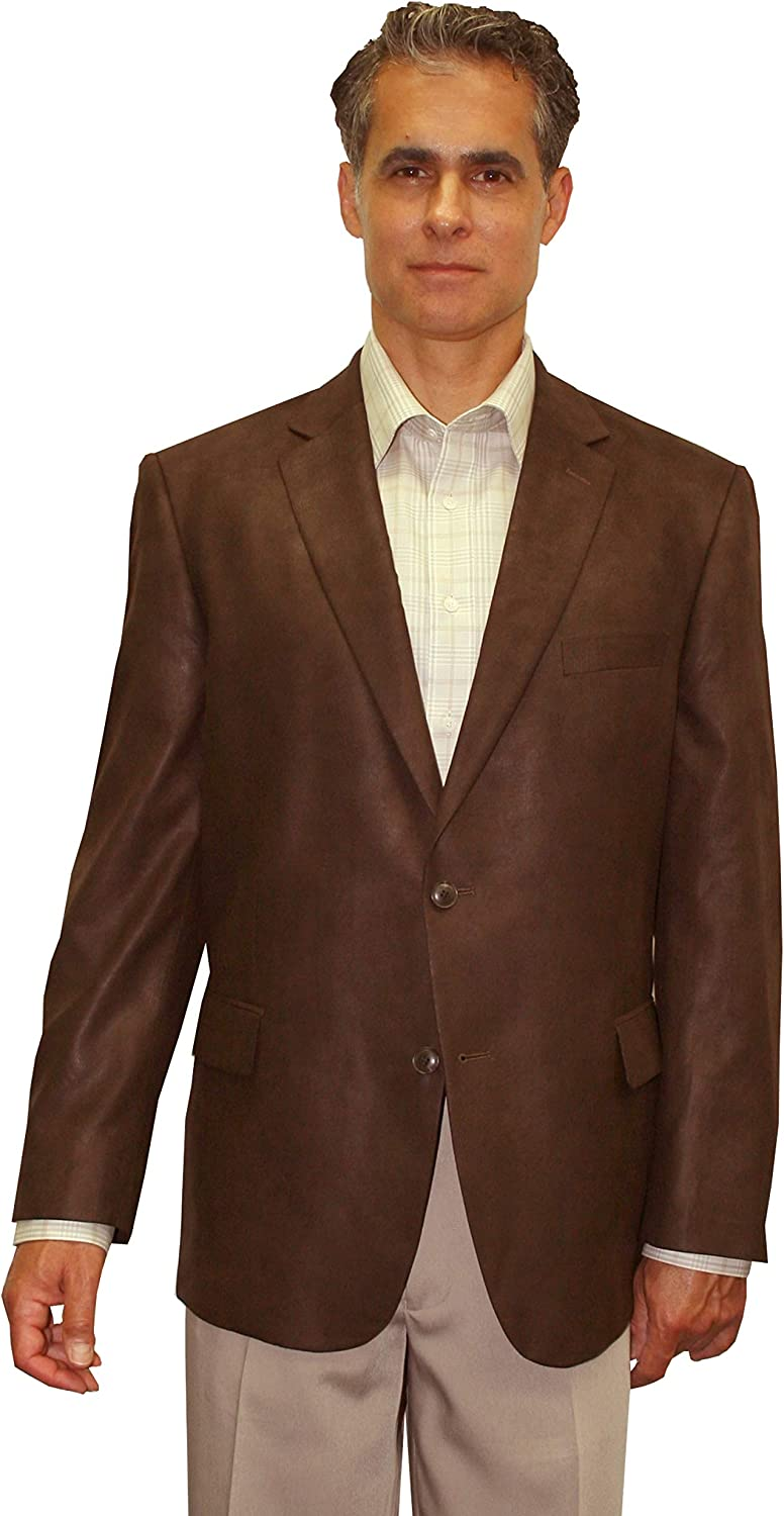 Big and Tall Luxury Microfiber Faux Leather-Like Super Soft Sport Coat to Size 60 in 3 Colors