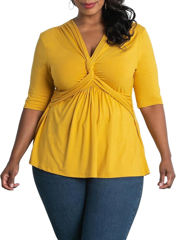 Kiyonna Women's Plus Size Caycee Twist Top