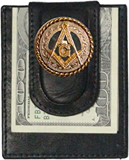 Custom Masonic Square and Compasses Paul and Taylor Money Clip Wallet