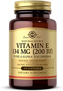 Solgar Vitamin E 200 IU Alpha, 100 Softgels - Antioxidant, Healthy Aging, Healthy Skin, Immune System Support - Natural So...