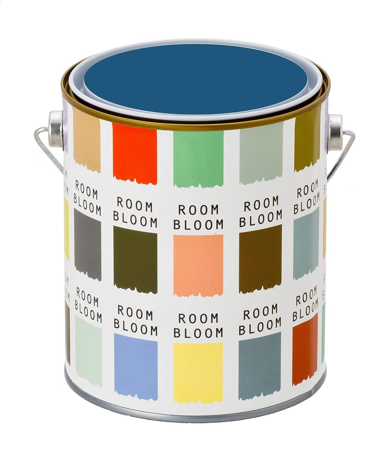 コーラス委任する水族館水性ペンキ(室内塗料) ROOMBLOOMMatte 1kg カラー:blue moment(ブルー 青 くすんだブルー)