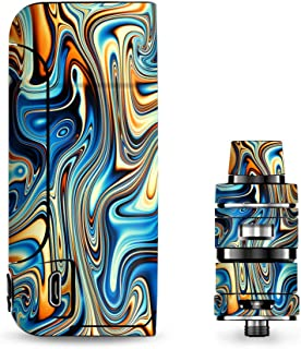 IT'S A SKIN Decal Vinyl Wrap for Vaporesso Armour Pro Cascade Tank Vape Sticker Sleeve/Blue Orange Psychadelic Oil Slick