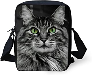Mini Crossbody Tote Single Shoulder Bag Small Handbag Cell Phone Purse Wallet (Cat Face)