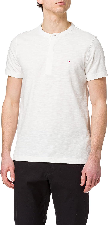 Tommy Hilfiger Slub SS Henley Camiseta para Hombre