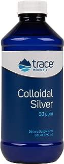 Trace Minerals Research Vegan Colloidal Silver Spray, Bio-Active Silver Hydrosol Liquid Mineral Supplement, Certified Organic, Natural & Pure, 30 PPM, 8 fl. Oz