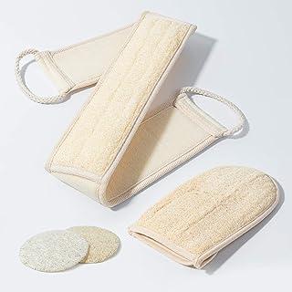 Melveen - Juego de exfoliante para la ducha, cepillo para polvo de espalda exfoliante para el cuerpo, 2 unidades de esponj...