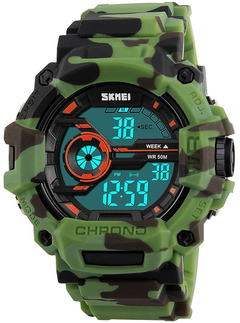 Luxury Brand Waterproof Digital Watch Men Military Sports Watches Fashion Casual Men's Student Swim Dress LED Wristwatches aejp5300329564