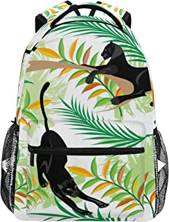 COVOSA Vector Seamless Pattern Black Panthers Woods Lightweight School backpack Students College Bag Travel Hiking Camping Bags