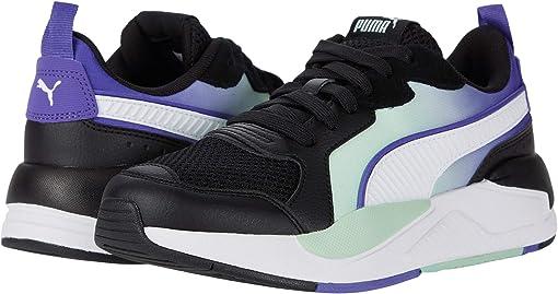 Puma Black/Puma White/Purple Corallites/Mist Green