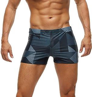 Arcweg Men's Swimming Trunks Shorts with Removable Pad Sport Boxer Swimwear Boxers Underwear Drawstring Summer Beach Board...