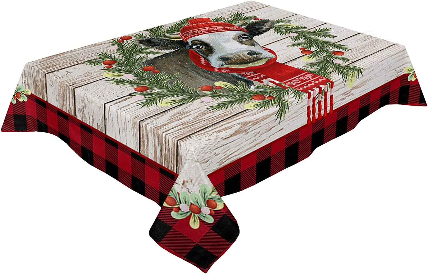 ARTSHOWING Christmas Tablecloths Waterproof Lin Max 84% OFF Cotton Washable Direct store