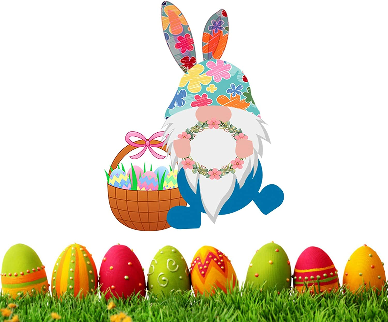 Big Easter Sacramento Mall Window Clings Decals Gnome Decor East 5 popular Stickers Bunny