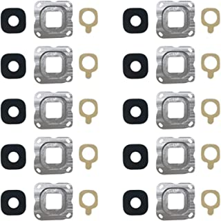 YPshell Camera Accessories 10 PCS Back Camera Bezel & Lens Cover with Sticker for Galaxy C7