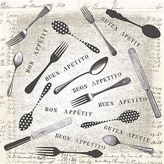 Disposable Paper Napkins, Good Appetite, 16 Pieces 3 Layers - 33 x 33 cm
