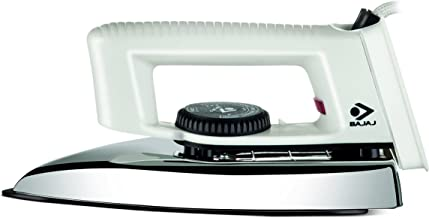 Bajaj Popular Light Weight 1000W Dry Iron with Advance Soleplate and Anti-Bacterial German Coating Technology, White