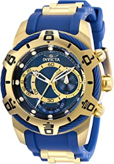 Invicta Men's Bolt Stainless Steel Quartz Watch with Silicone Strap, Blue, 24 (Model: 29068)