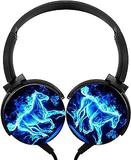 $24 » Lightweight 3.5mm Blue Neon Horse Foldable & Portable Stereo Bass Headphones Cartoon Wired Headset/Stereo Headphone/Portab...
