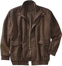 KingSize Men's Big & Tall Microsuede Bomber Jacket
