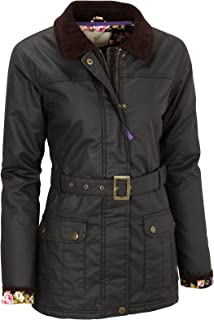 Vedoneire Womens Wax Jacket (5050) Black Motorbike Motorcycle Style Coat