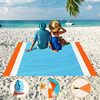 Aitey Sand Free Beach Blanket, Waterproof Beach Mat Compact Outdoor Blanket Ideal for Picnic, Travel, Hiking, Camping and ...