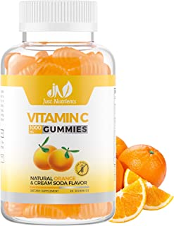 Vitamin C 1000mg Gummies with Zinc & Herbal Extracts – Immune Support for Adults & Kids - Great Tasting Orange Flavor – Gl...